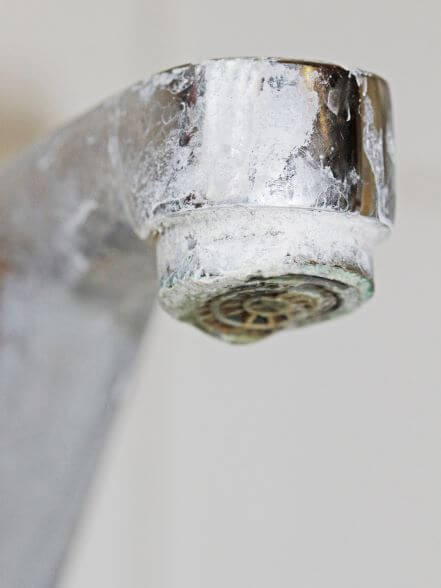 Faucet with Limescale
